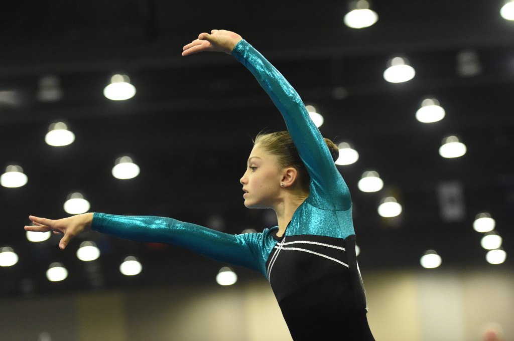 Eve on floor at JO Nationals 2014